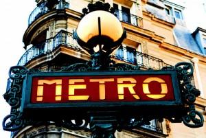 Entrada al mapa de metro de paris