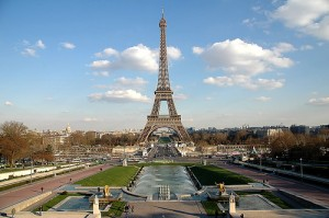 vista completa de la torre eiffel