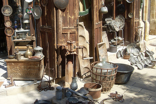 Antique shop on the Turkish side of Nicosia